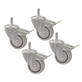 Dual Locking Castor Set 4pk - PRS3090